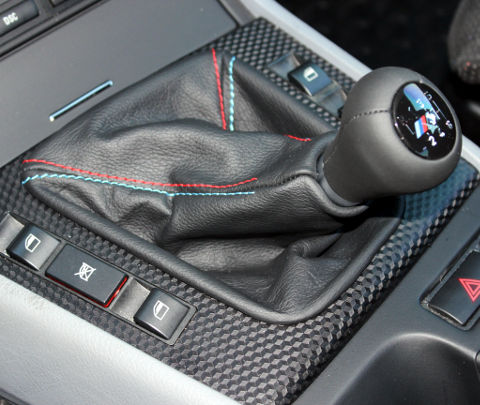 e46 leather manual shift boot