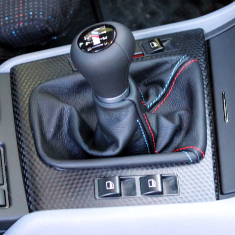 e46 leather manual shift knob
