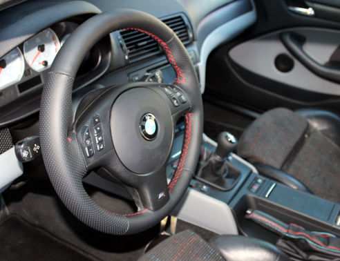 e46 m sport leather steering wheel